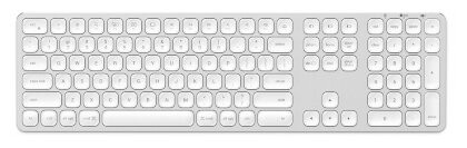 Satechi Aluminum Wireless Keyboard with Numeric Keypad Silver Bluetooth
